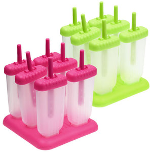 DIY Homemade Ice Cream Popsicle Ice Mold Maker Block Mould W/ Lid