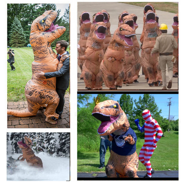 Dinosaur Inflatable Trex Costume for Children & Adult