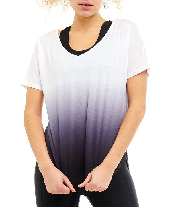 Boudavida Aura Ombre t-shirt in black