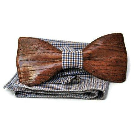 brown wooden bow tie