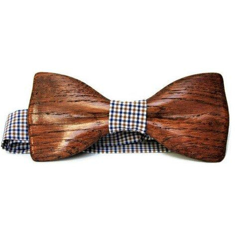 men's wood bow tie