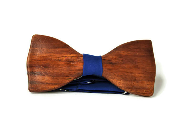 Handmade men's bow tie from wood. Wooden trend gift with unique design and limited edition