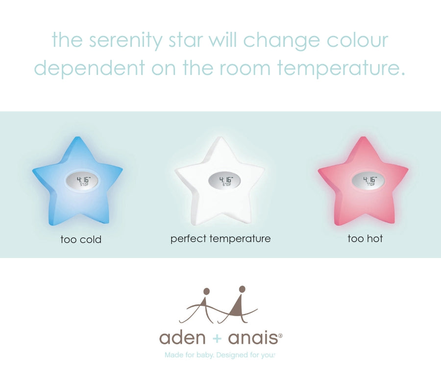 aden + anais serenity star sound machine / room temperature indicator