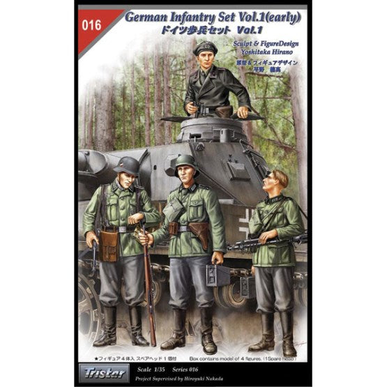 TS35016 - Tristar 1/35 German Infantry Set Vol. 1 Early (4 Figure)