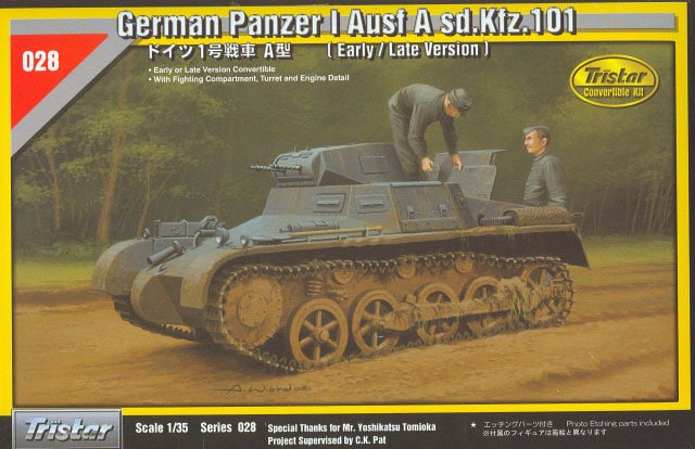 TS35028 - Tristar 1/35 Panzer I Ausf A Sd.Kfz 101 (Early/Late Convertible with Interior Set)