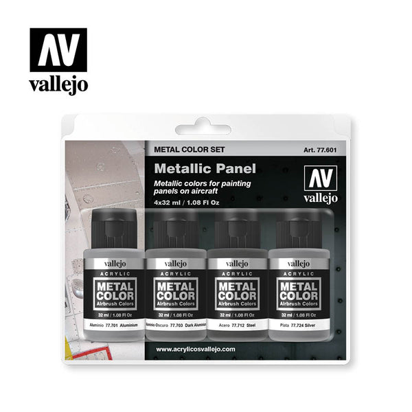 77.601 Metallic Panel  - Vallejo Metal Color Set