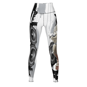 Teaz Club Design, Yoga Pants, Speaker Design White & Black
