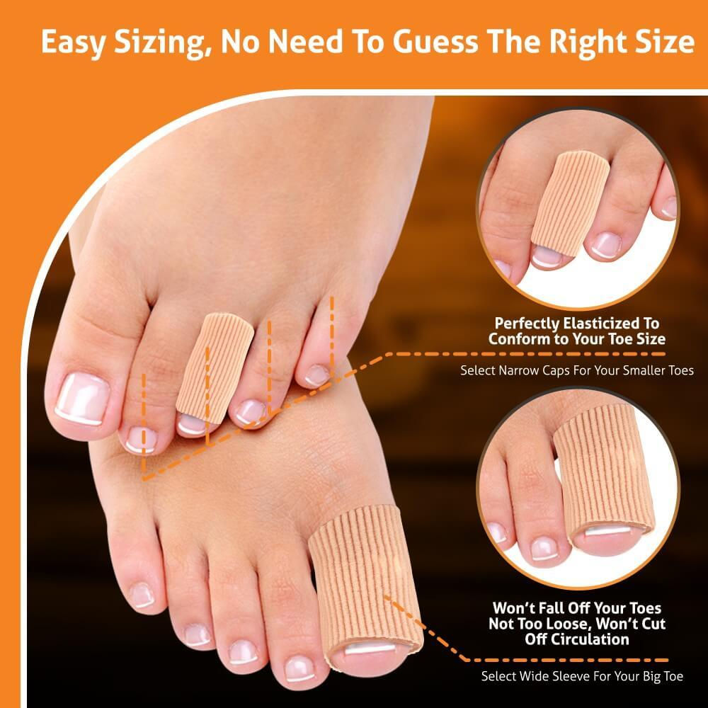 How to size and fit BlisterPod Gel Toe Protector Sleeves
