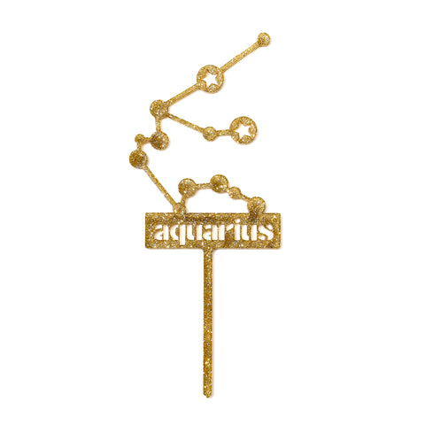 Zodiac Cake Topper in Gold by AHeirloom