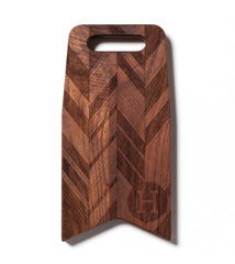 Monogram & Herringbone Pattern: 12x6 Cutting Board