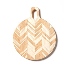 Herringbone : 11-inch Round Cutting Board