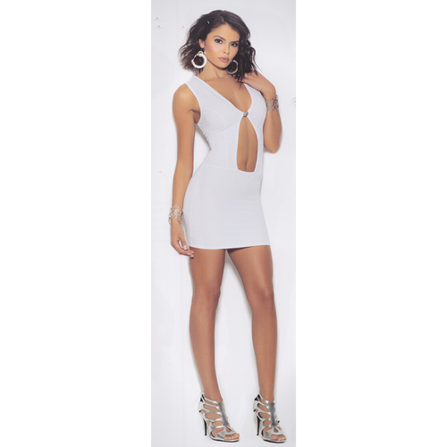 Erica's White Ice - Tight Midriff One-Piece Dress - [collection] - Honeybunnies.com