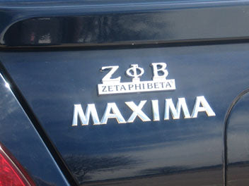 ZETA PHI BETA CHROME CAR EMBLEMS,ZETA CAR EMBLEMS,ZETA PHI BETA CHROME DECALS,ZETA DECALS, ZETA LICENSE PLATES,ZETA PHI BETA LICENSE PLATE