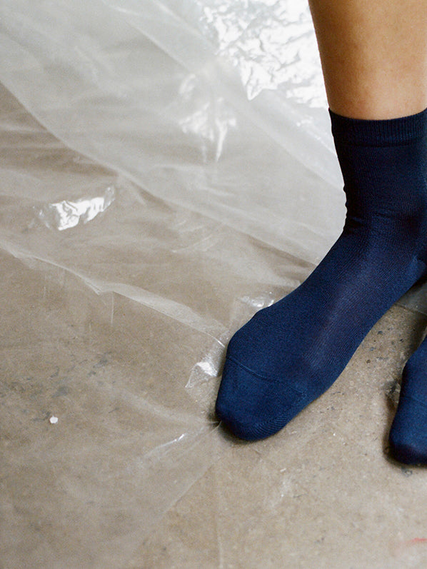 ANKLE SOCKS, NAVY