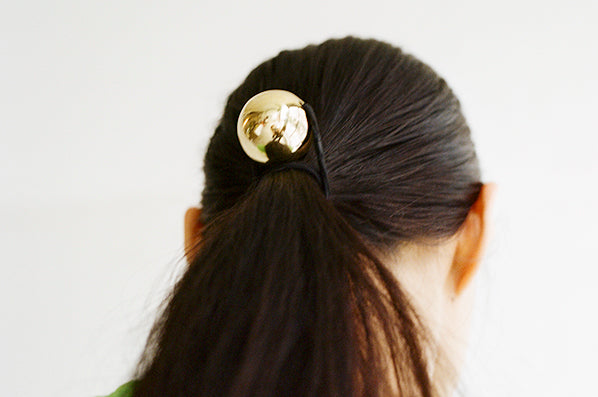 BELLE HAIR TIE NO.2, GOLD