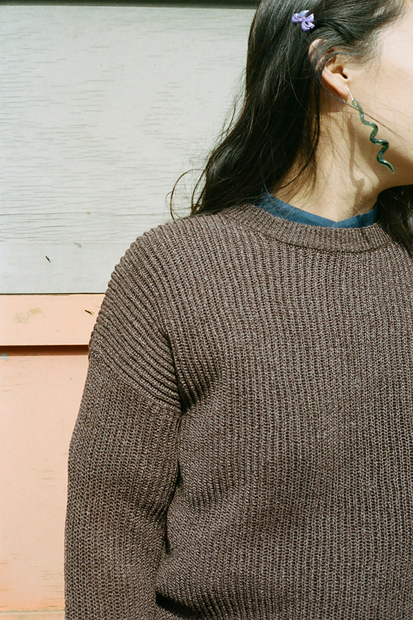 WASHI PAPER SWEATER, BROWN
