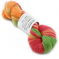 Sock Yarn Australian Merino Wool Yarn Green Red Orange Mix 12536| Sock Yarn | Sally Ridgway | Shop Wool, Felt and Fibre Online