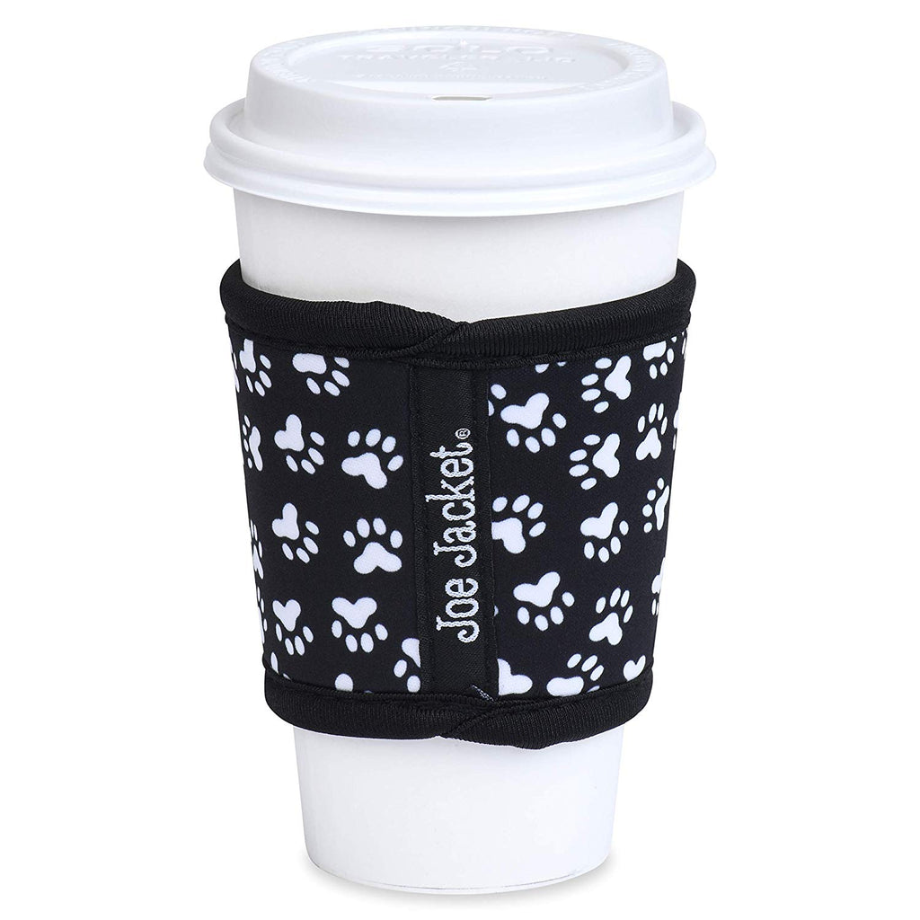 Joe Jacket - Neoprene Cup Sleeves - Complete Paw Print 6 Pack - Super Stylish Glass Insulator Keeps Your Beverage at the Correct Temp. Buy 6Pack and get 30% Off. (6PACK)