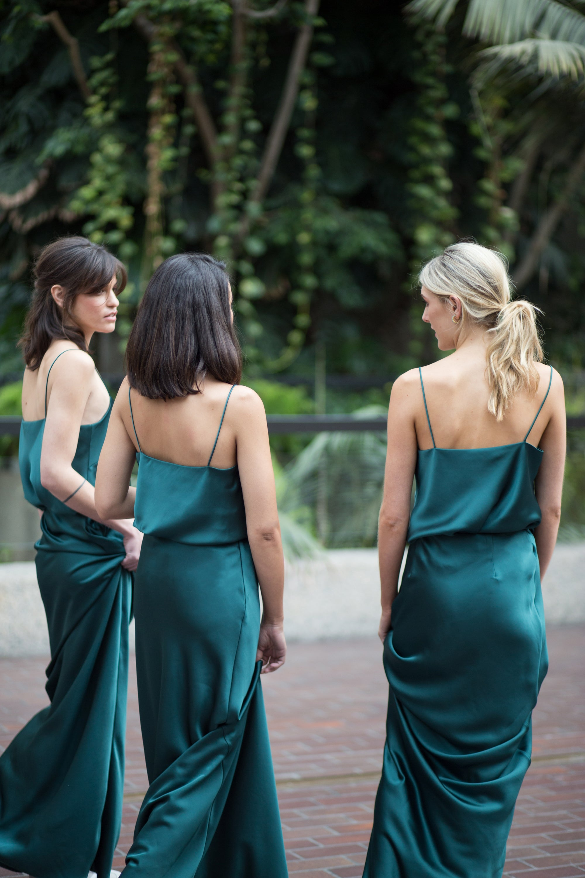 emerald bridesmaid dress