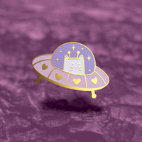 Unidentified Flying Cat Pin
