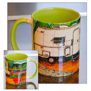 """Lunch At The Land Yacht"" Mugs"