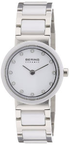 Bering Women's Ceramic Collection Stainless Steel Watch, White
