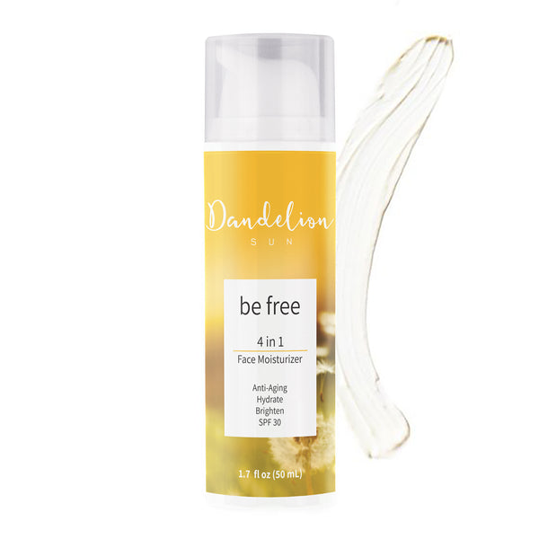Dandelion Sun, be free, 4-in-1 Face Moisturizer with SPF 30