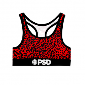 Cheetah Red – Sports Bra