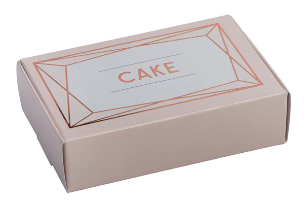 Set of 10 Geo Blush Cake Boxes