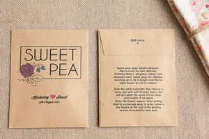Sweet Pea Personalised Seed Packet Favour