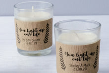 18 Personalised Stickers For Candle Wedding Favours
