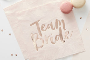 Team Bride Gold Foiled Paper Napkins