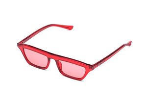 QUAY 'Finesse' Sunglasses Red