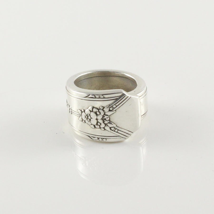 Antique Silver Spoon Ring (Size K)