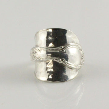 Antique Silver Spoon Bowl Ring (Size T)