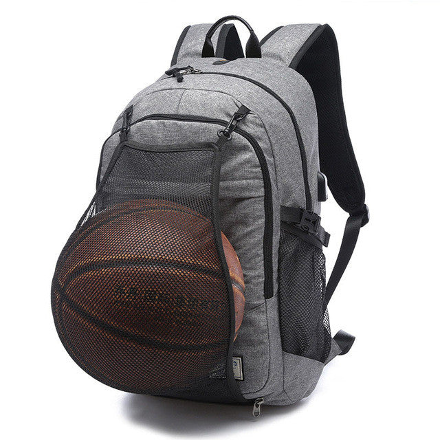 Sport Backpack with Charge Port and Laptop Compartment