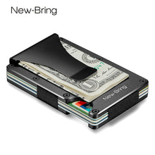 Load image into Gallery viewer, Metal Mini RFID Blocking Money Clip Credit Card Holder