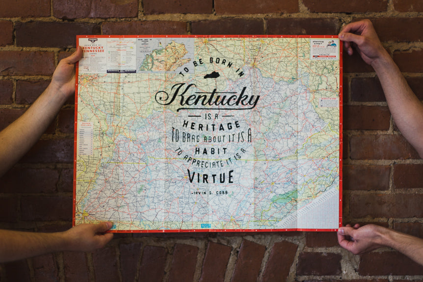 Epic. Vintage. Kentucky. Map. Prints.