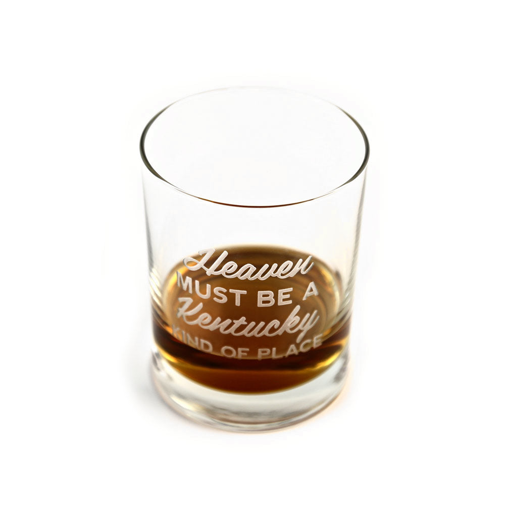 Heaven Must Be A Kentucky Kind of Place Bourbon Glass-Glass-KY for KY Store