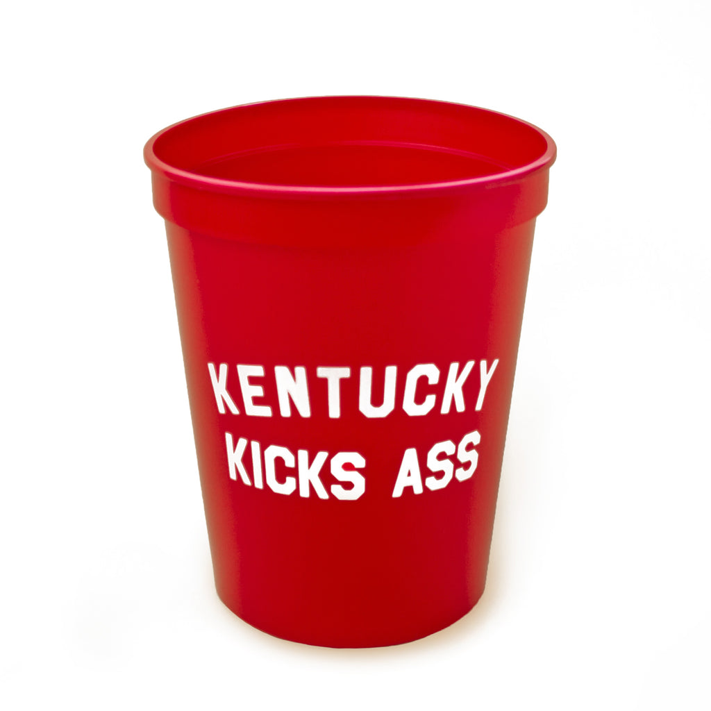 Kentucky Kicks Ass Stadium Cup (Red)-Odds and Ends-KY for KY Store