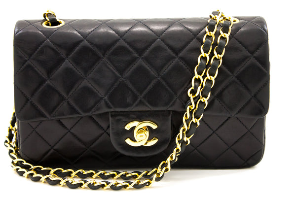 Chanel Black Quilted Lambskin Chain Clutch (SHB-10093)