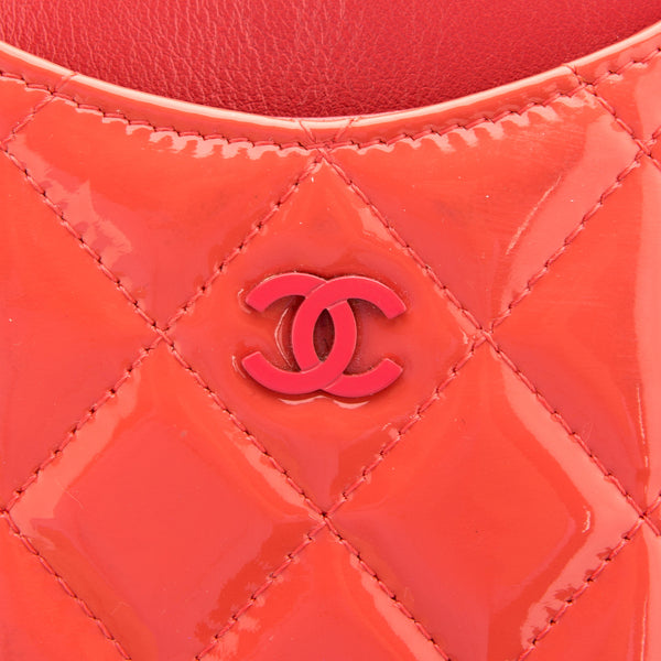 Chanel Red Patent Phone Case (Authentic Pre Owned)