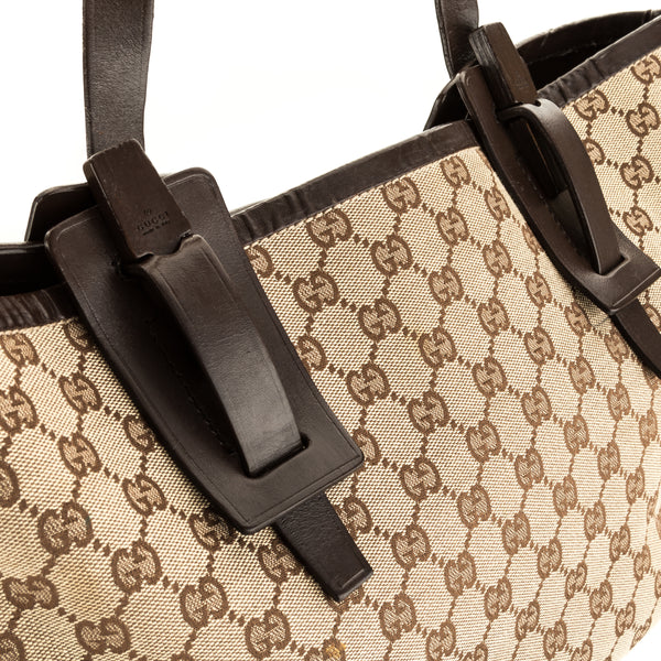 Gucci Dark Brown Leather GG Monogram Shoulder (3912011)
