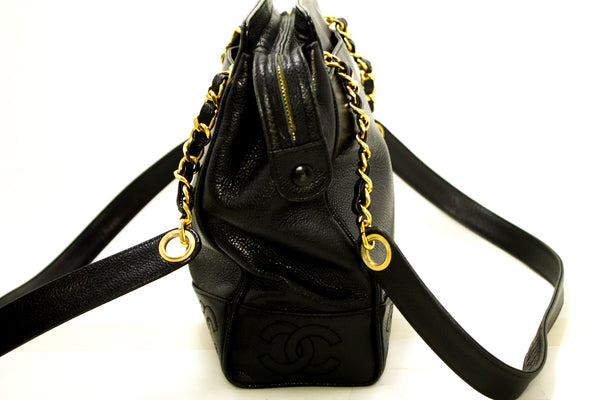 Chanel Black Caviar Coco CC Chain Shoulder (SHB-10037)