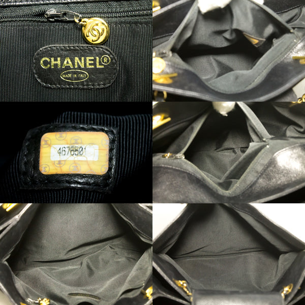 Chanel Black Quilted Caviar Medallion Tote (SHB-10163)