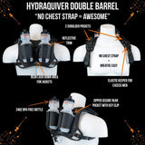 Hydraquiver Double Barrel Hydration Pack: Ideal For Runners With Larger Chest Diameters And For Runs Greater Than 2 Hours. - Db Black -