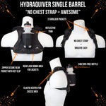 The Hydraquiver Single Barrel: Ideal Running Distances Up To A Marathon. - Hydraquiver Black - Packs