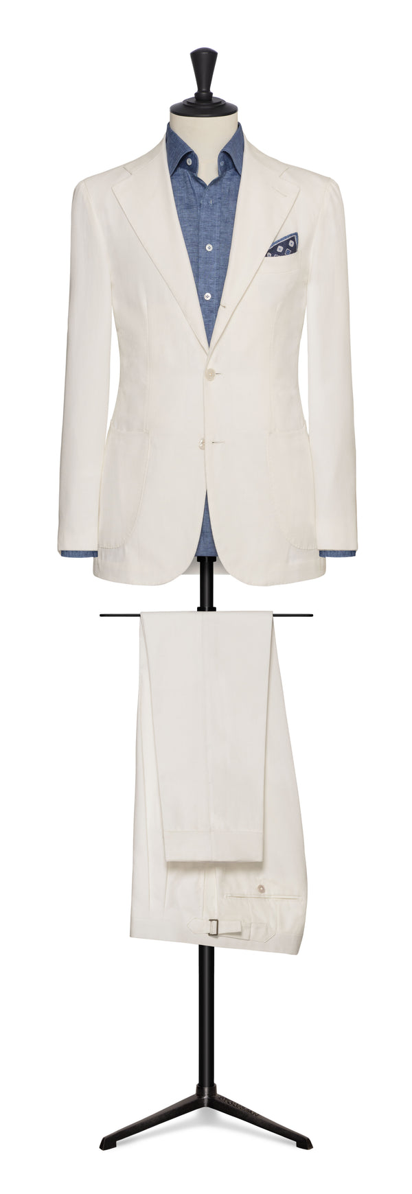 Subalpino Off-White Ribbed Cotton Suit