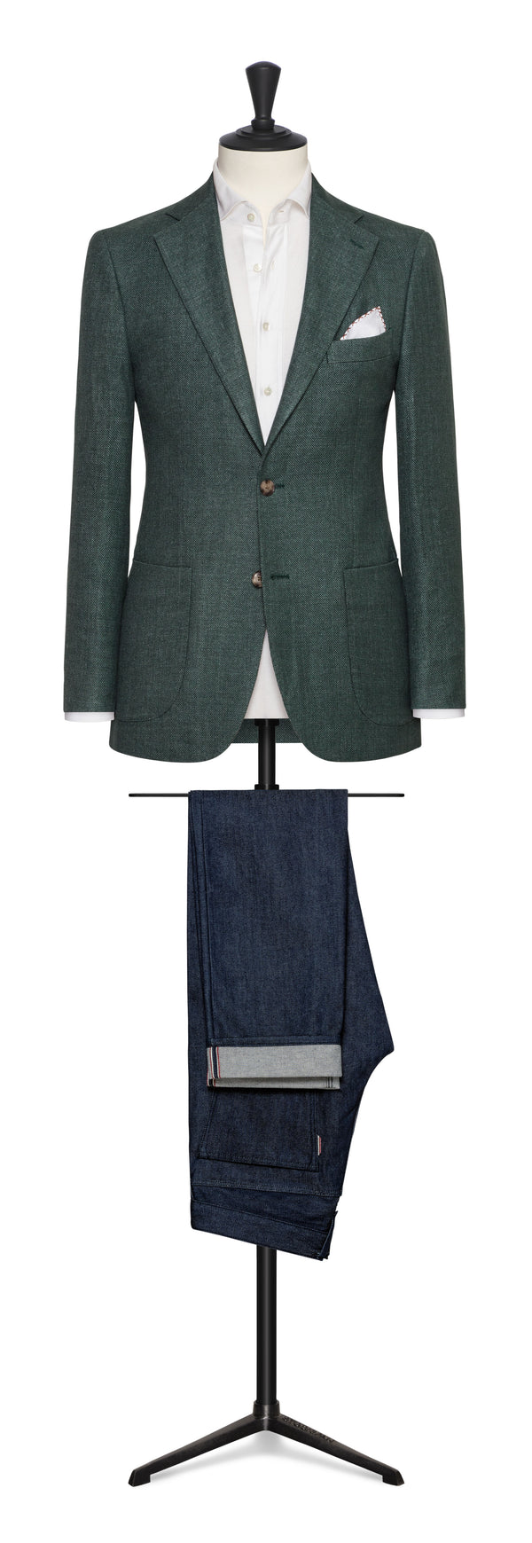 Angelico Green Linen Cotton Sport Coat