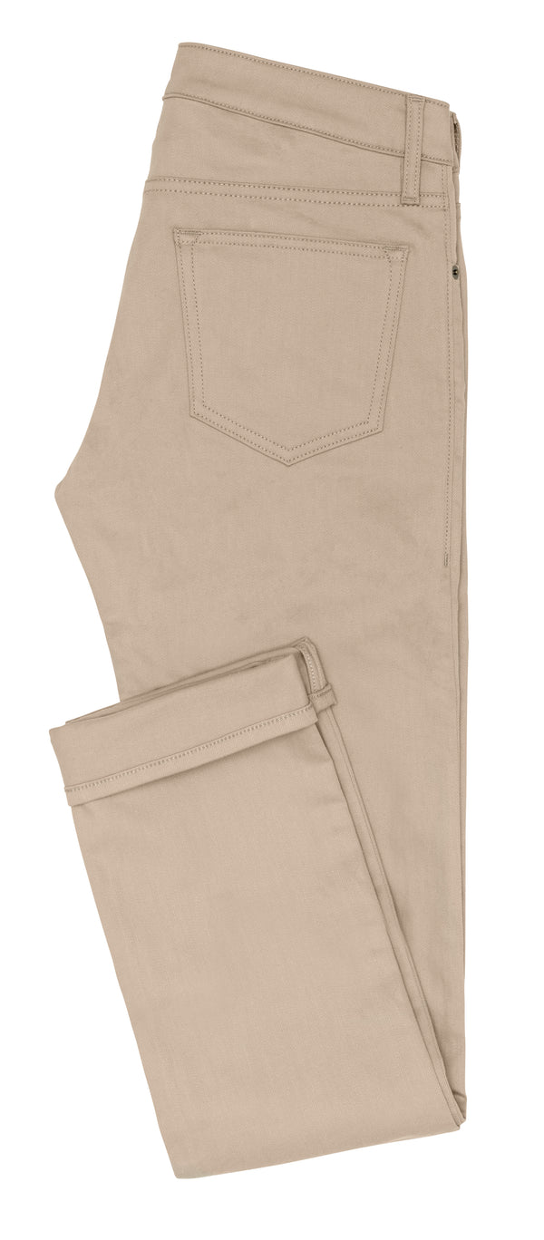 Tan Stretch Twill 5-Pockets